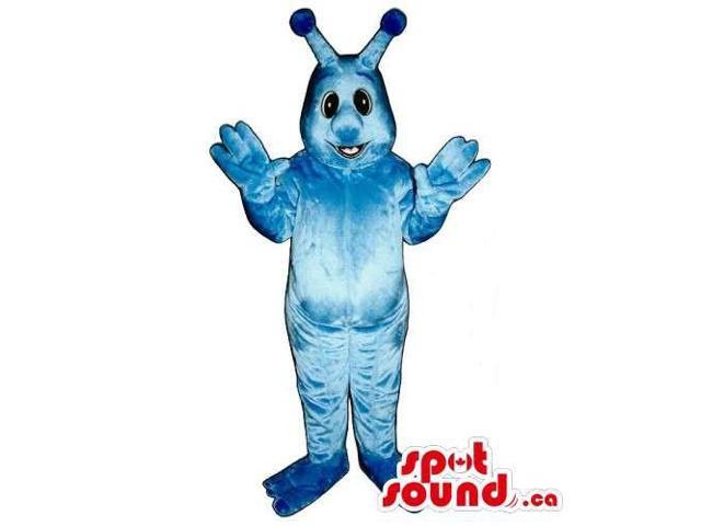 Customised Cute All Blue Plush Monster Creature Canadian SpotSound Mascot
