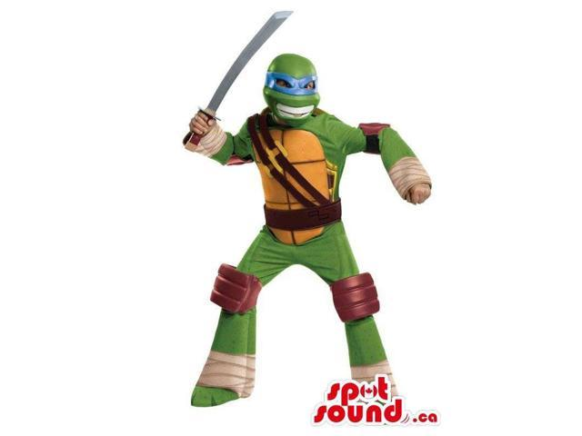 Well-Known Ninja Turtles Leonardo Character Plush Canadian SpotSound Mascot With A Sword
