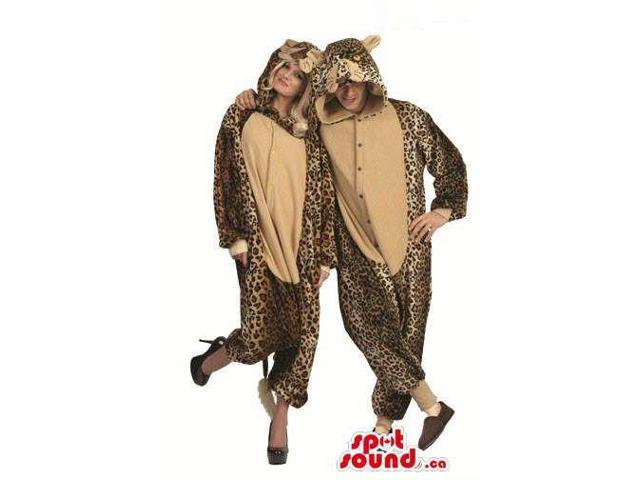 Cute Brown And Beige Leopard Adult Size Plush Costumes