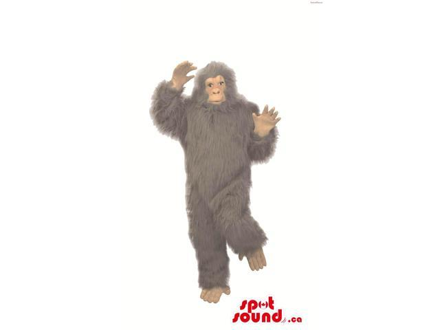 Large Woolly Grey Chimpanzee Or Gorilla Plush Canadian SpotSound Mascot
