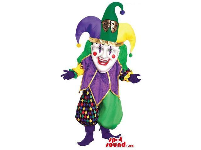 Peculiar Colourful Clown Or Clown Circus Character Canadian SpotSound Mascot