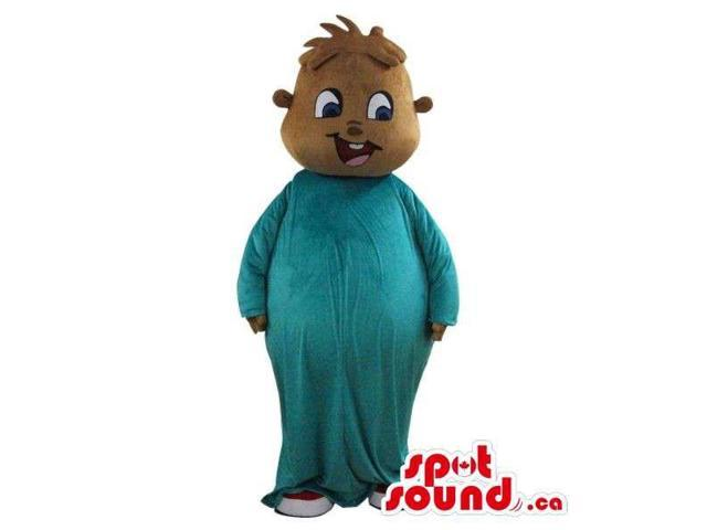 Alvin And Chipmunks Cartoon Character Plush Canadian SpotSound Mascot In Blue