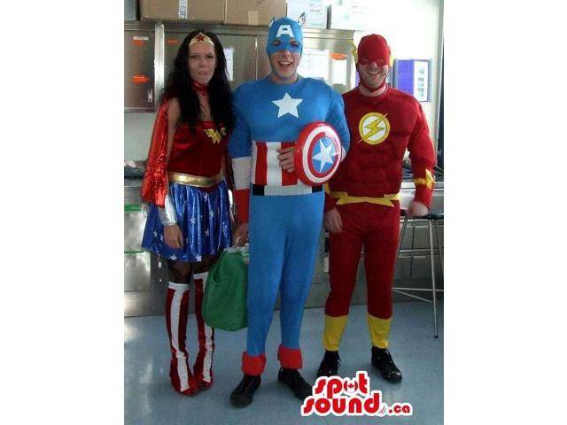 Three Great Marvel Character Adult Size Costumes