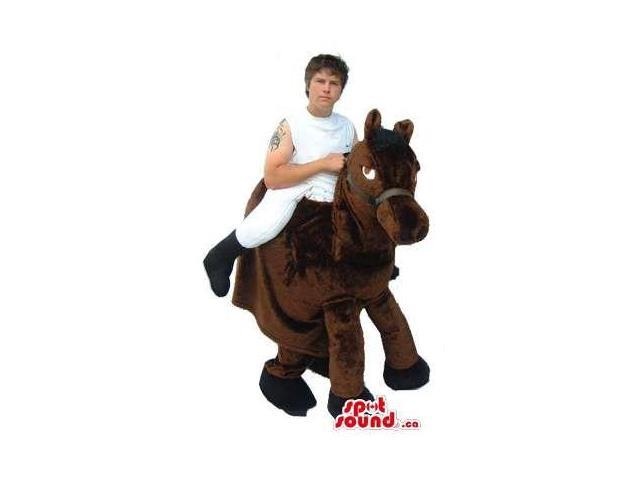 Great Brown Horse-Rider Walker Two-In-One Adult Size Costume