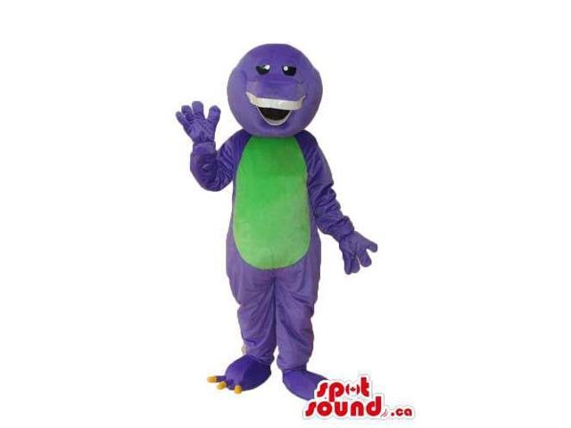 Purple Monster Character Plush Canadian SpotSound Mascot With A Green Belly