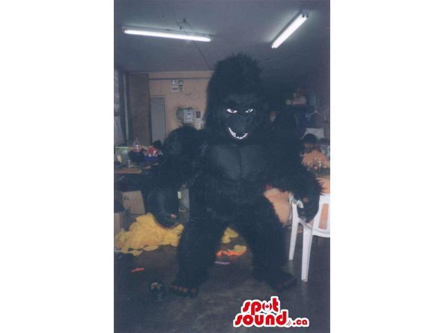 King-Kong Black Gorilla Animal Canadian SpotSound Mascot With Furious Look