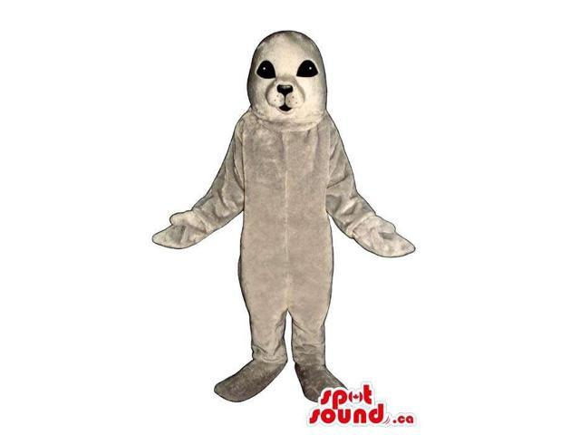 Customised Grey Seal Animal Plush Canadian SpotSound Mascot With Black Eyes