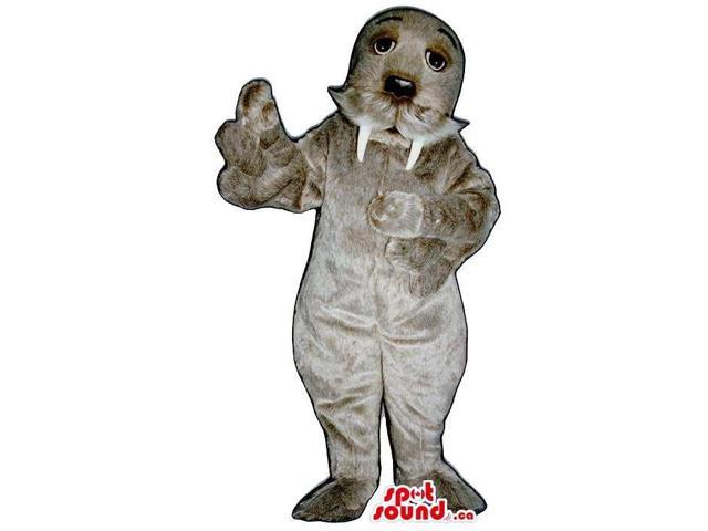Customised Grey Seal Animal Plush Canadian SpotSound Mascot With Moustache