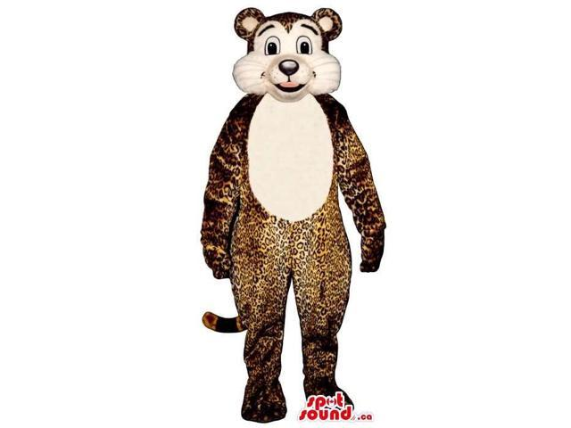 Cute Leopard Animal Plush Canadian SpotSound Mascot With A White Belly