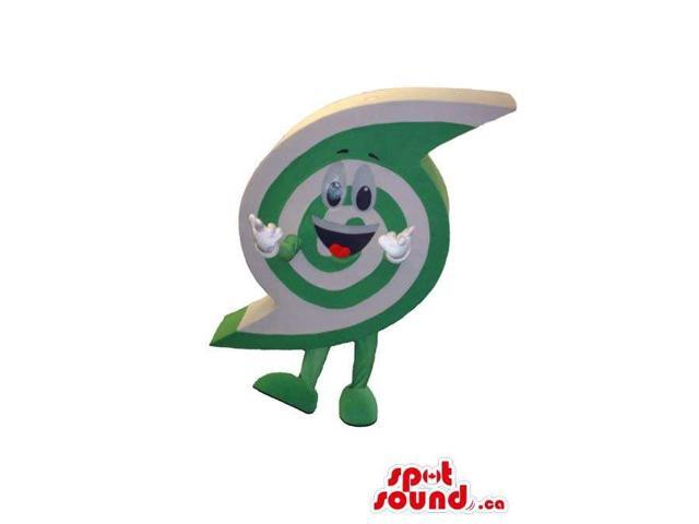 Customised Green And White Peculiar Spiral Logo Canadian SpotSound Mascot