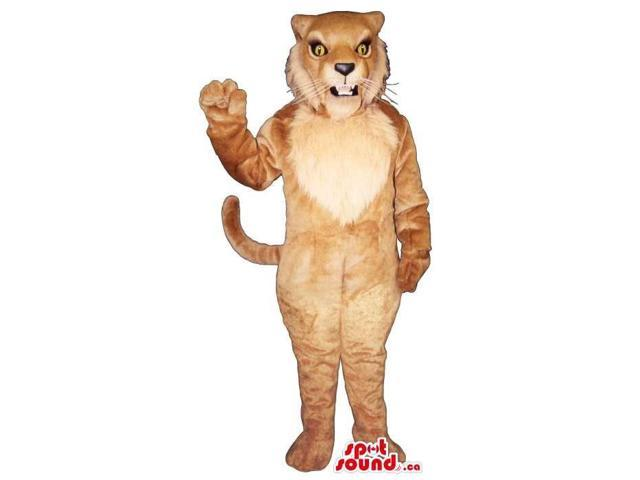 Wildcat Plush Canadian SpotSound Mascot In Brown With Yellow Eyes And Whiskers