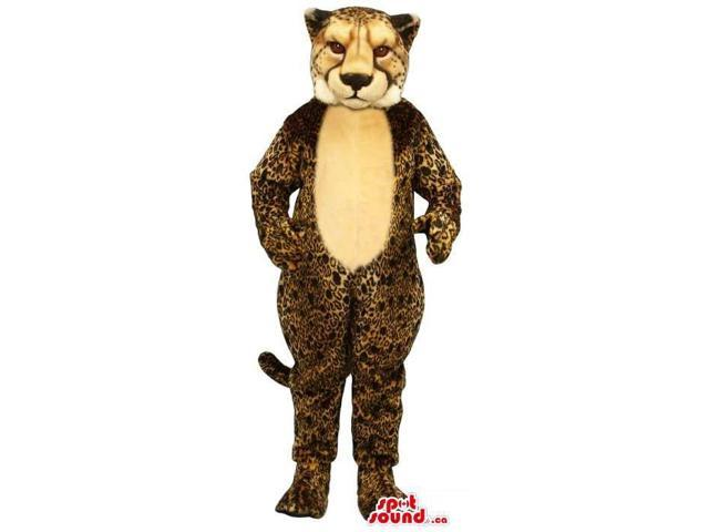 Great Leopard Animal Plush Canadian SpotSound Mascot With A Beige Belly