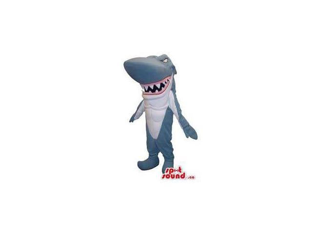 Shark Animal All Canadian SpotSound Mascot With Pointy Fangs And Jaws
