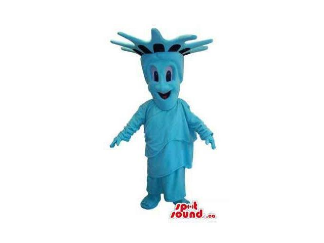 Great Peculiar Blue New York Statue Of Liberty Statue Canadian SpotSound Mascot