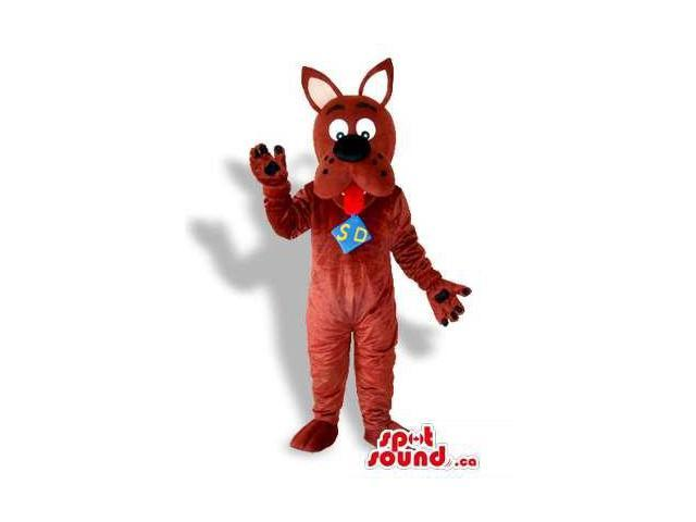 Scooby-Doo Brown Dog Character Canadian SpotSound Mascot From The Well-Known Cartoon