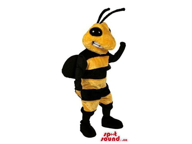 Great Bee Canadian SpotSound Mascot With Black Antennae And A Peculiar Smile