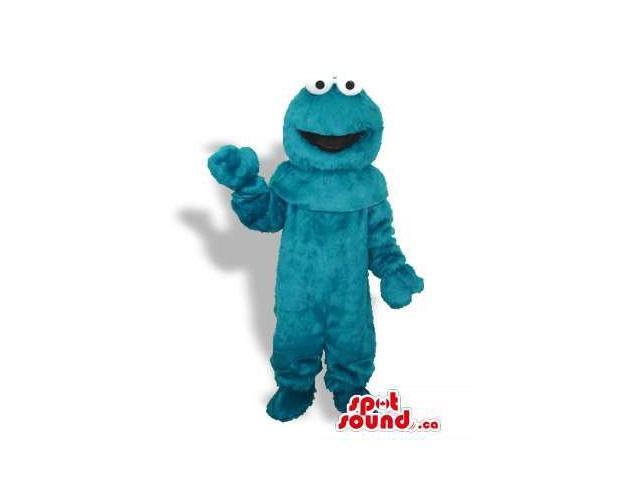 Sesame Street Cookie Monster Blue Woolly Character Canadian SpotSound Mascot
