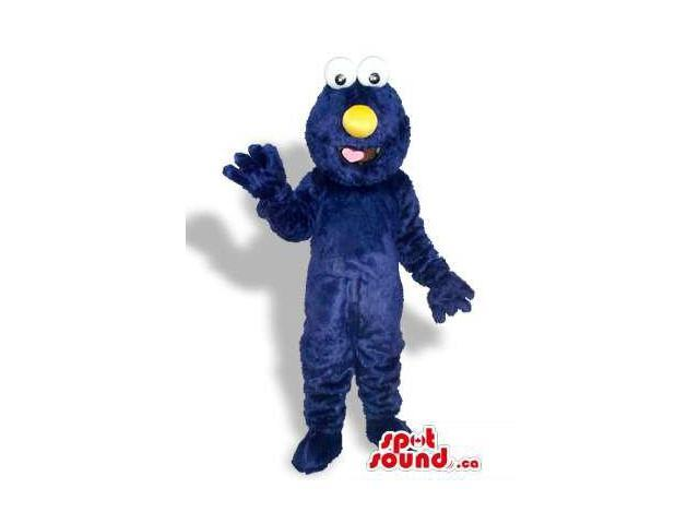 Sesame Street Cookie Monster Character Canadian SpotSound Mascot With Yellow Nose