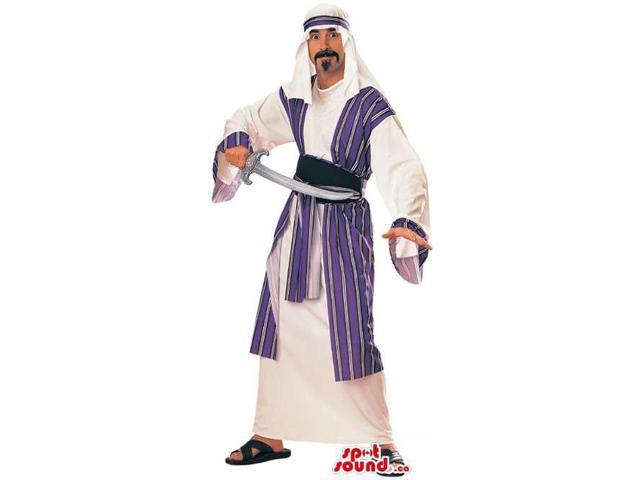Halloween Carnival Costume With Arabic Clothes And A Sword