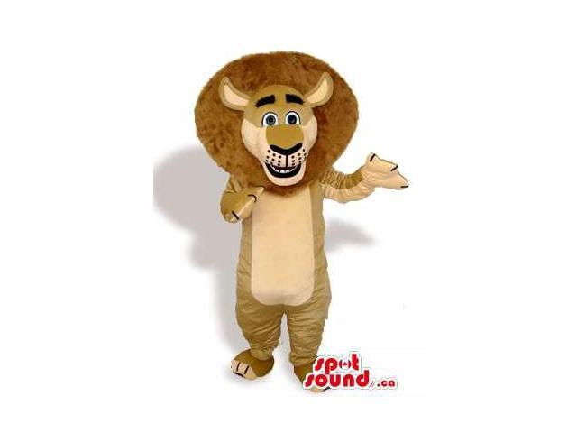 Great Beige Lion Cartoon Animal Plush Character Canadian SpotSound Mascot