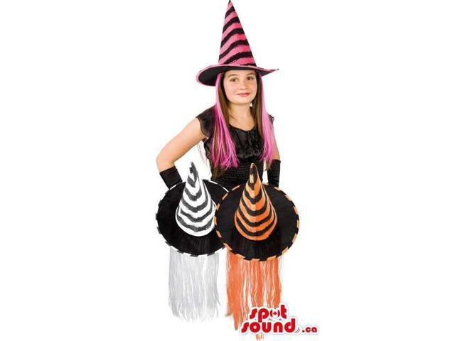 Witch Hat With Hair For Halloween Disguise In 3 Available Colors