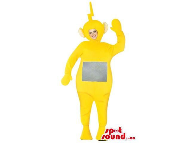 Yellow Teletubbies Plush Canadian SpotSound Mascot Or Adult Size Costume