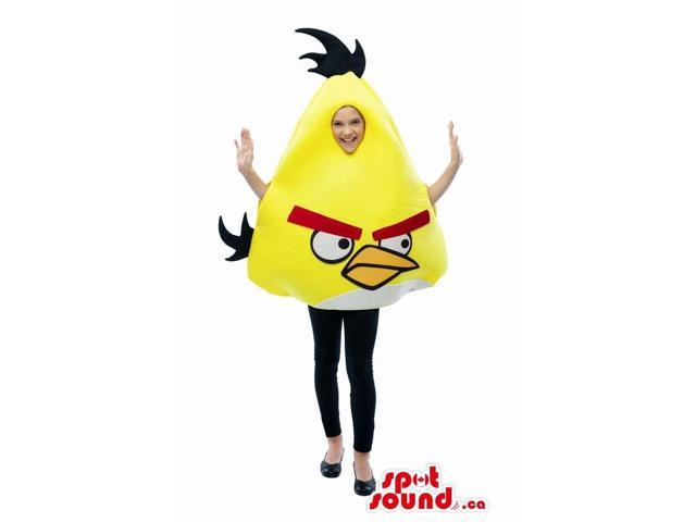 Cute Yellow Angry Birds Character Children Size Costume