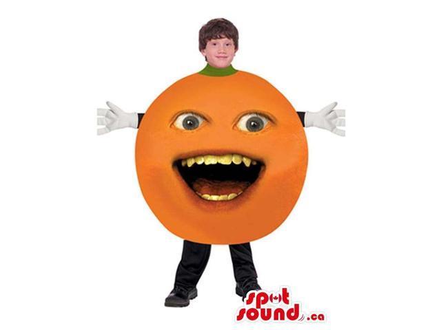 Annoying Orange Viral Internet Character Children Size Costume