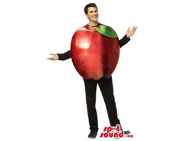 Real-Looking Large Red Apple Fruit Plush Adult Size Costume