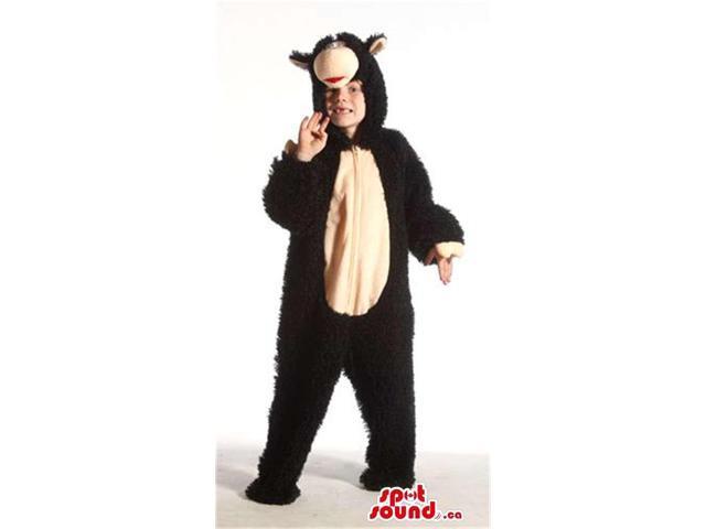Cool Black And Beige Monkey Plush Children Size Costume