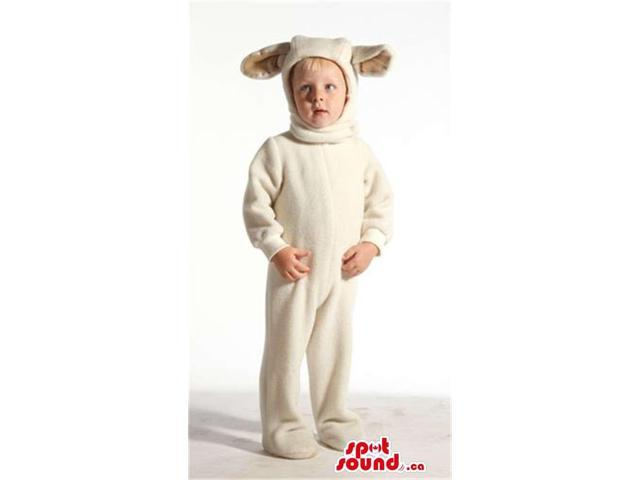 Cool White Sheep Animal Plush Children Size Costume