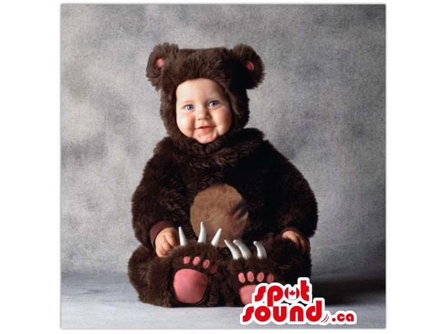 Cute Black And Brown Bear Toddler Size Peculiar Costume