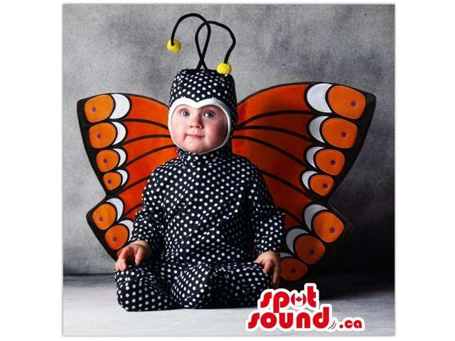 Cute Black And Orange Butterfly Toddler Size Peculiar Costume