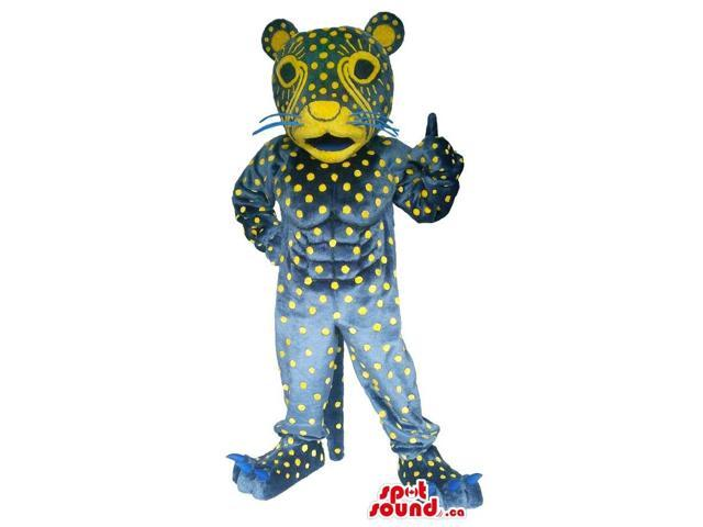 Great Fairy-Tale Tiger Plush Canadian SpotSound Mascot With Dots And A Pattern Face