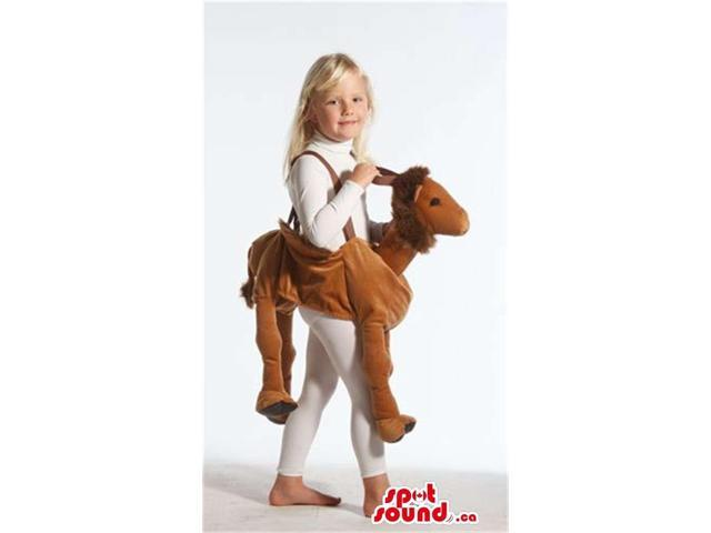 Cute Brown Horse Plush Children Size Costume On Expanders