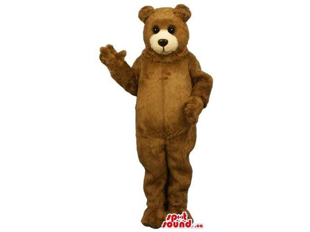 Standard Cute Large Brown Teddy Bear Plush Canadian SpotSound Mascot With Beige Face