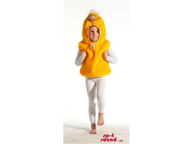 Cute Yellow Chicken Animal Plush Children Size Costume