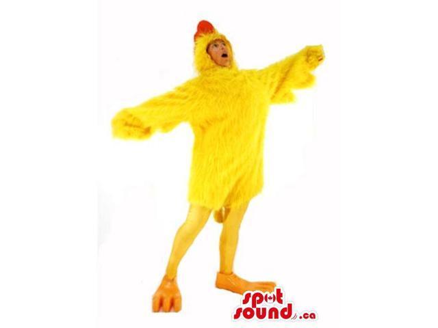 Cute Large Yellow Chicken Hen Plush Adult Size Costume
