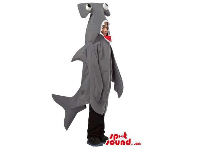 Cute Grey Hammerhead Shark Plush Children Size Costume
