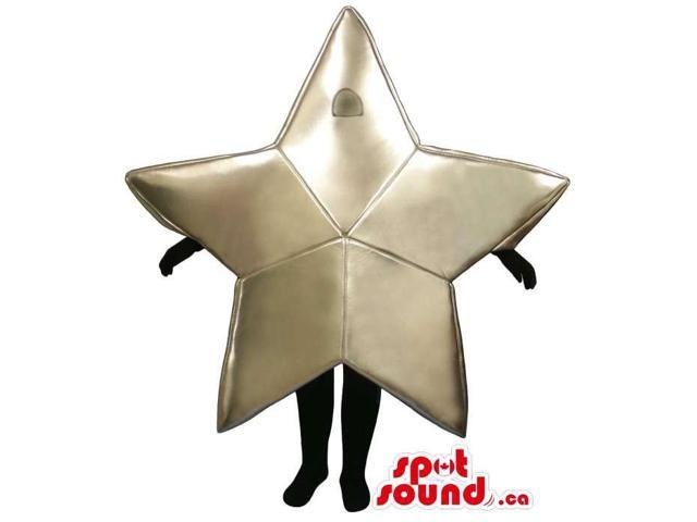 Shinny Golden Star Customised Canadian SpotSound Mascot With Space For Logo