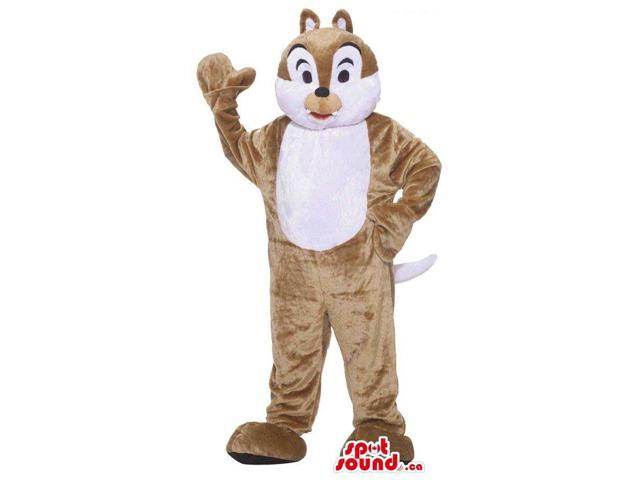 Customised Cute Brown Chipmunk Plush Canadian SpotSound Mascot With A White Belly
