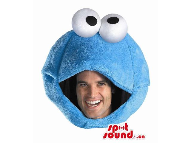 Blue Cookie Monster Character Plush Adult Size Costume