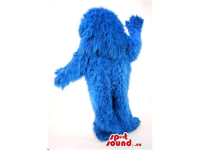 Blue Woolly Cookie Monster Character Plush Canadian SpotSound Mascot
