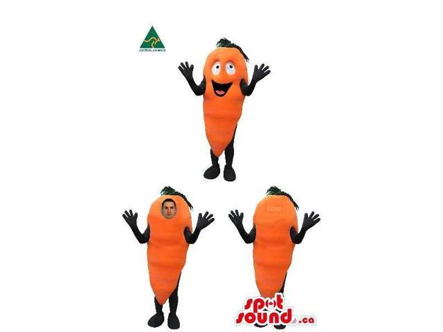 Carrot Vegetable Canadian SpotSound Mascot Or Costume In Three Various Versions