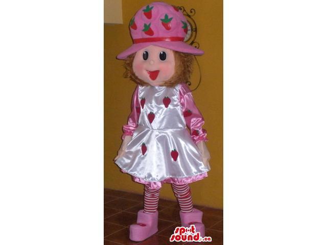 Strawberry Shortcake Shinny Children Cartoon Character Canadian SpotSound Mascot