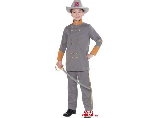 Confederate States Soldier Character Children Size Plush Costume