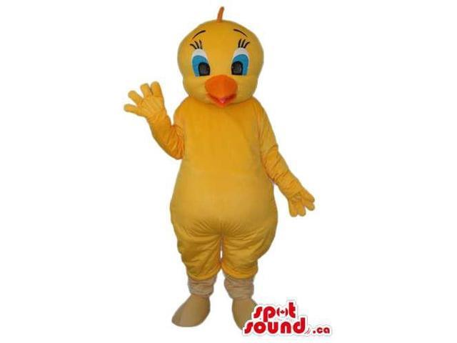 Yellow Bird Alike Tweety Cartoon Character Canadian SpotSound Mascot