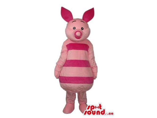 Piglet Character Canadian SpotSound Mascot From Winnie The Pooh Well-Known Cartoon