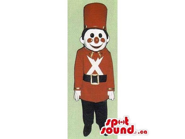 Children'S Toy Soldier Canadian SpotSound Mascot Dressed In Special Clothes