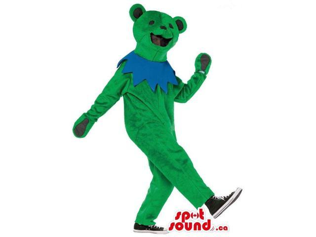 Customised Green Bear Adult Size Plush Costume Or Canadian SpotSound Mascot